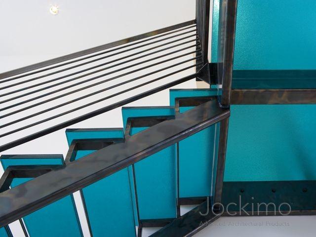 Mohan Blue Glass Stair Treads flooring