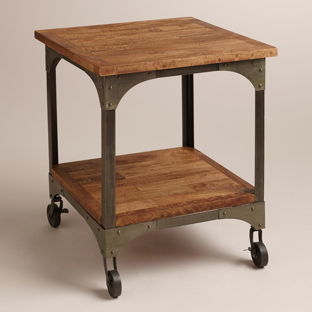 Aiden End Table Industrial Side Tables And