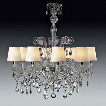 Av Mazzega | Venetian Miami 8 Arm Chandelier modern-chandeliers
