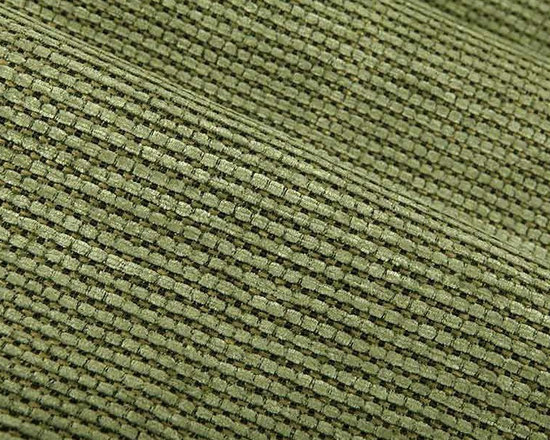 Darin Green Upholstery Fabric in Tea Tree - Darin Green Upholstery Fabric in Tea Tree is an intricate upholstery with a woven check/stripe pattern. Its mossy green color is accentuated by black and tan yarns. Made from a blend of 56% acrylic, 18% polypropylene, and 2% polyester, this upholstery fabric passes 9,000 double rubs on the Wyzenbeek Abrasion Test. Cleaning Code: S; UFAC: Class I; passes CA117 Test. Width 56″.