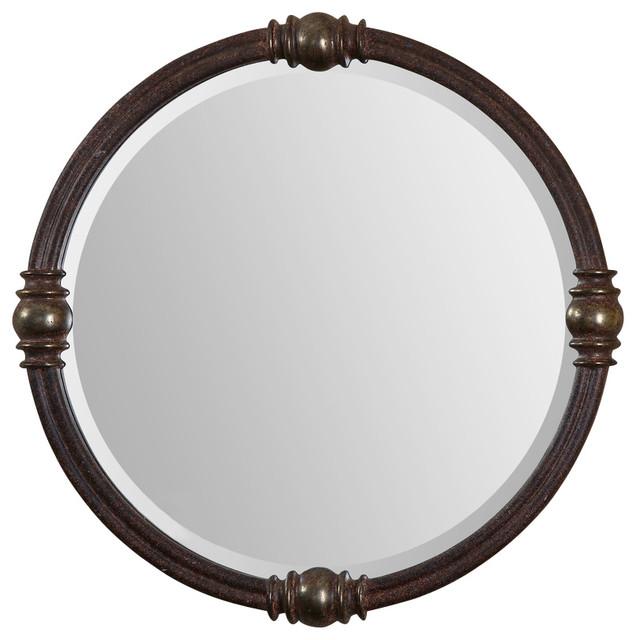 Uttermost Dinora Round Mirror contemporary-wall-mirrors