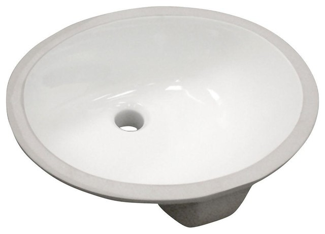 Foremost Bathroom Vitreous China Oval Undermount Bathroom Sink in ...
