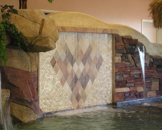 RainScapes - Rain Curtain over tile wall