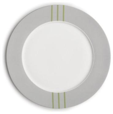 Echo Design Fan Floral Dinner Plate - Set of 4 modern-plates