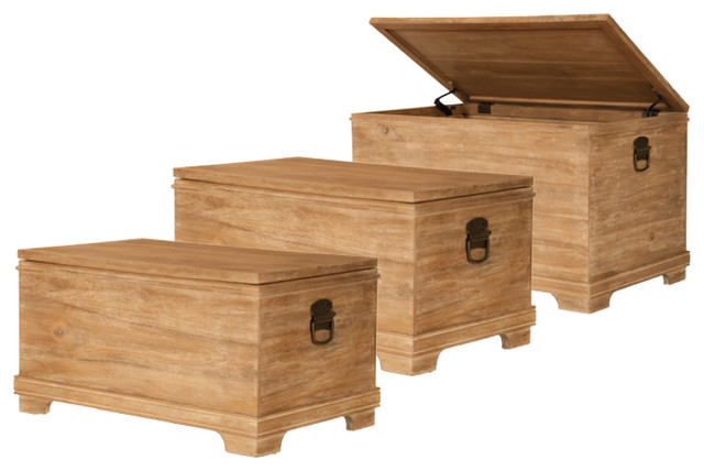 Hudson Nesting Trunk eclectic side tables and accent tables