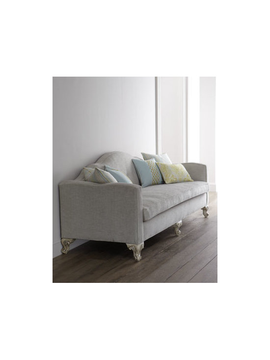 """Key City Furniture - Key City Furniture """"Lovelady"""" Sofa - There's so much to love about this sofa—a beautiful camel back with subtle button tufting; shaped arms; wonderfully carved, ornate feet. And it's been designed with comfort in mind. Frame made of hardwood solids and engineered hardwood. Hand-pai..."""