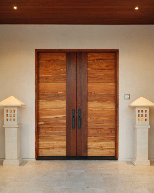 Coastal style interior doors rumah minimalis for Contemporary door designs