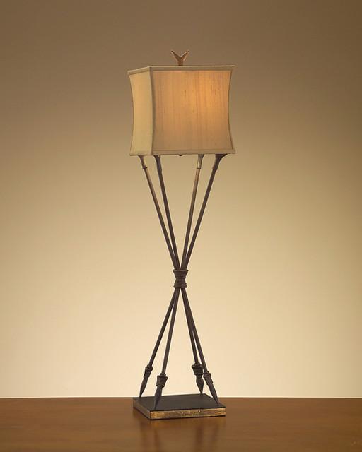 John Richard 42 Arrow Buffet Lamp Contemporary Table