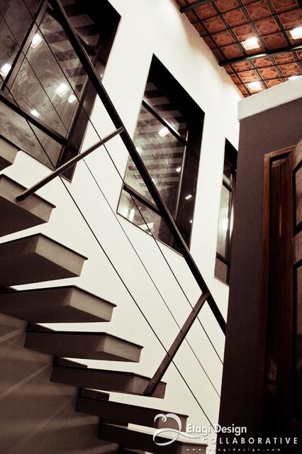 Pramod SJ Residence contemporary-staircase