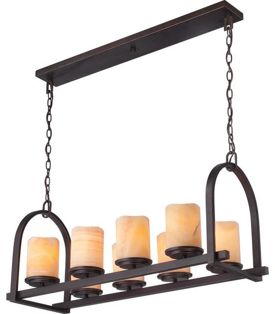 quoizel ckad836pn aldora 8 light island lights in. Black Bedroom Furniture Sets. Home Design Ideas