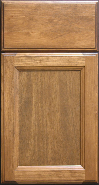 clear pine shaker cabinet door with solid drawer front
