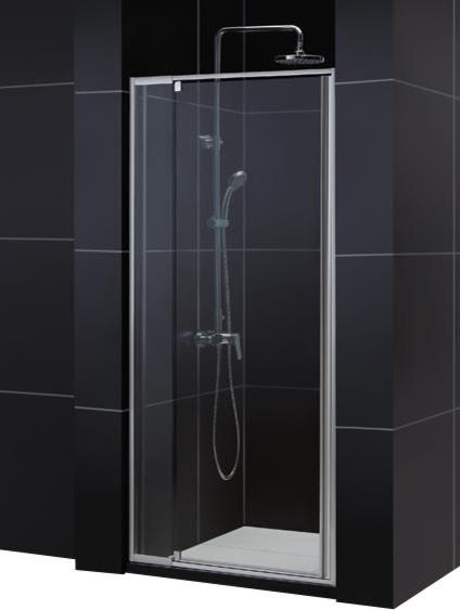 "DreamLine Flex Frameless Pivot Shower Door and SlimLine 32"" by 32"" contemporary-showers"