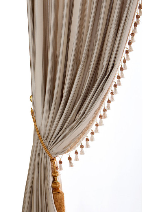 """Ulinkly.com - 100% Silk curtain - Stripe Silk King, 100""""*96"""", 2 Panels - This price includes 2 panels."""