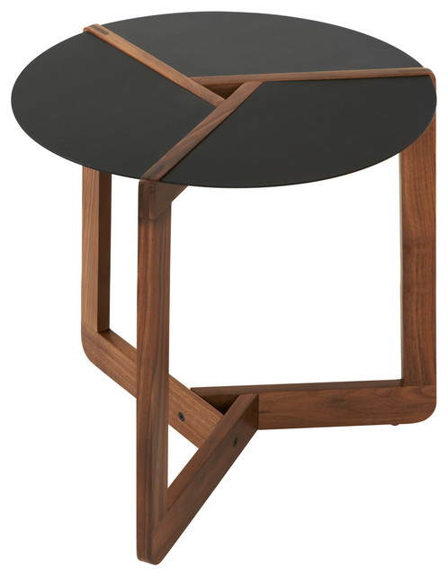 blu dot pi small side table walnut modern side tables