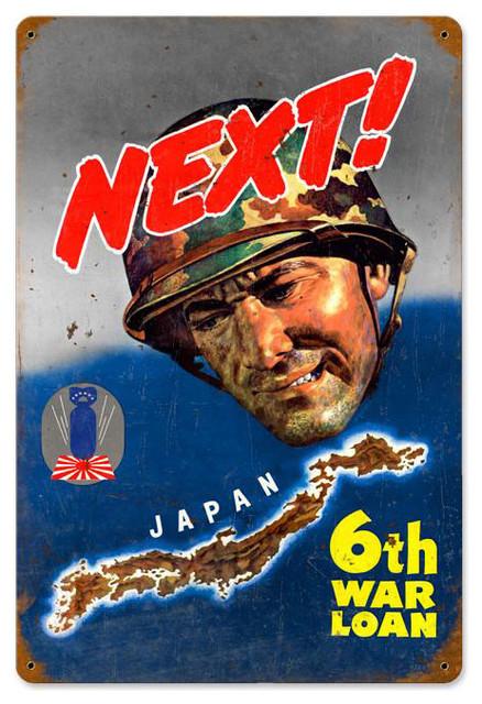 Next Japan Vintage Metal Sign modern-home-decor