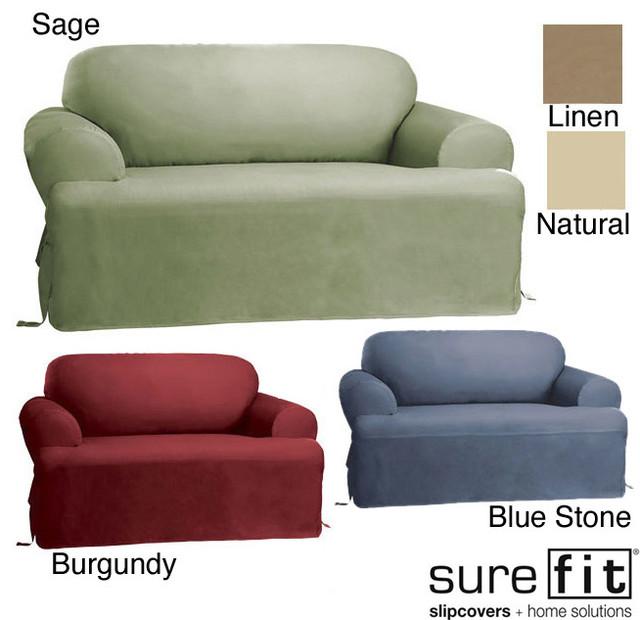 Sure Fit Cotton Classic T Cushion Sofa Slipcover