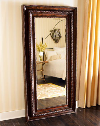 Floor Mirror with Jewelry Cabinet traditional-mirrors