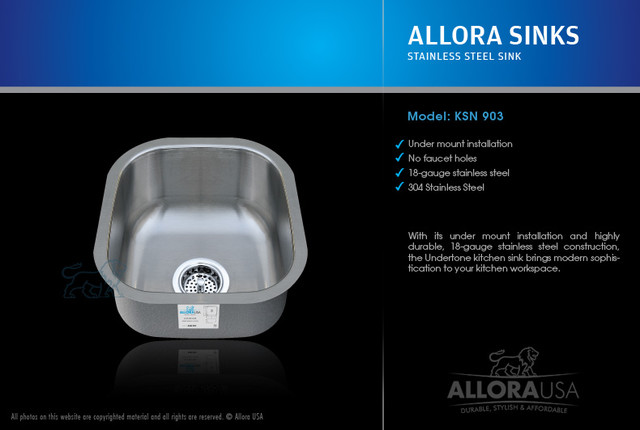 Allora Bar Sink contemporary-bar-sinks