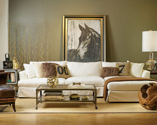 Andre Slipcover Sectional - Industrial Countryside Chic - Comfortable, industrial countryside chic.