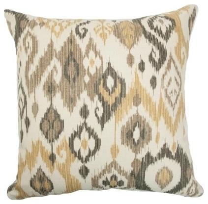 """Odayle Ikat Pillow Gold/Silver 18"""" x 18"""" contemporary-decorative-pillows"""