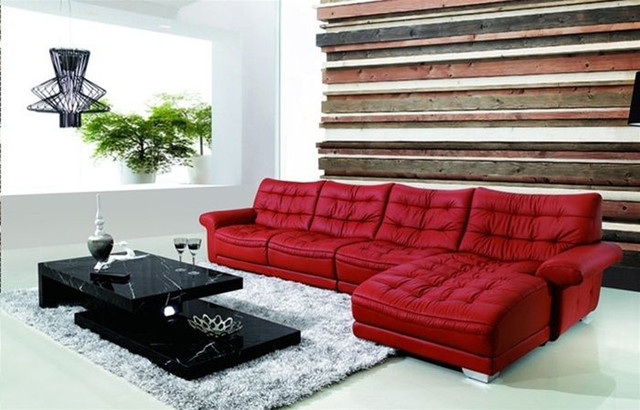 Refined Italian Leather Sectional contemporary sectional sofas miami