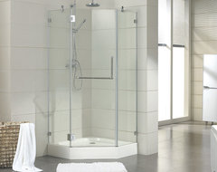 "40"" x 40"" Eero Neo Angle Shower Enclosure contemporary-showers"