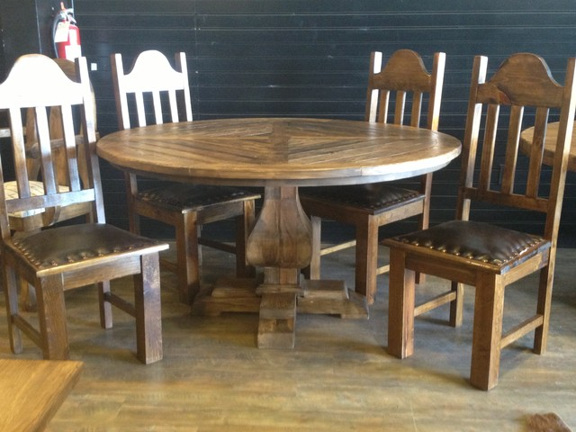 Customer builds traditional dining tables houston