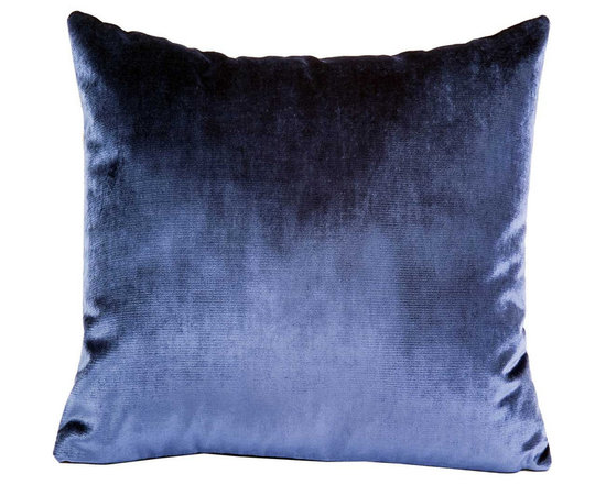 Yves Delorme - Iosis Berlingot Decorative Pillow, Flanelle, 22x22 - These sumptuous velvet pillows by Yves Delorme add gorgeous color and texture to any space. Decorative pillows feature a velvet front with a linen back and are filled with a feather down insert. Available in several colors and three different sizes. Made in France.Usually ships in 5-7 business days.