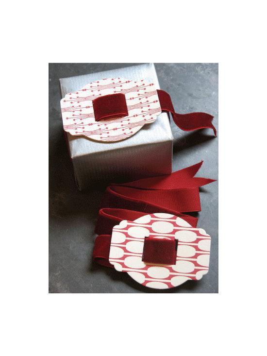 Red Letterpress Buckle with Velvet Ribbon -