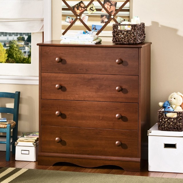 Teach your little girl how to store her clothes properly with the Anne 4-Drawer traditional-dressers