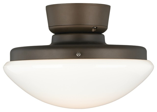 Contemporary Oil-Rubbed Bronze Pull Chain CFL Ceiling Fan Light ...
