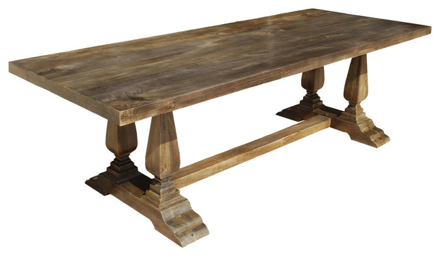 Nottingham Rustic Solid Wood Double Baluster Trestle  : rustic dining tables from www.houzz.com size 640 x 372 jpeg 42kB