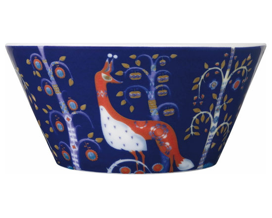 Iittala - Taika Pasta Bowl, Blue - Everybody's favorite dish just got a touch more special. The pattern on this porcelain pasta bowl has a magical fairy-tale quality sure to enchant friends and family gathered at your table.