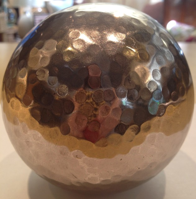 Hammered metal sphere home decor other metro by
