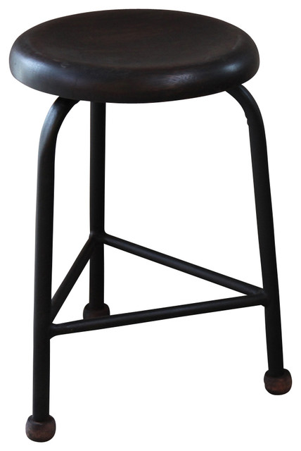 Triangle Stool Small Traditional Bar Stools And