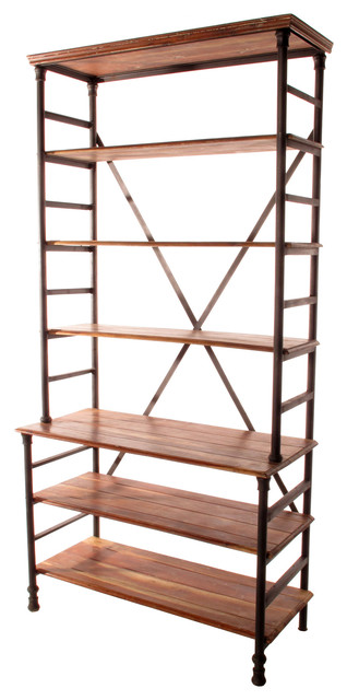Pipe Works Reclaimed Wood Industrial Pipe Tall Bookcase - Transitional - Bookcases - by Kathy ...