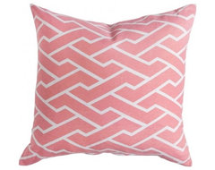Pink City Maze Pillow modern pillows