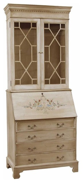 Hand painted secretary with hutch contemporary desks and hutches by shopladder - Modern secretary desk with hutch ...