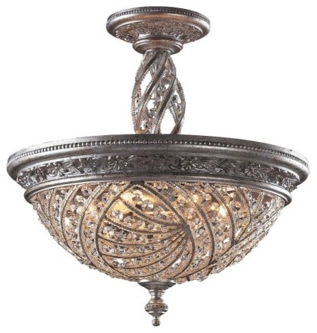 ELK Lighting Renaissance 6-Light Flush Mount 6233/6 - 20W in. traditional-ceiling-lighting