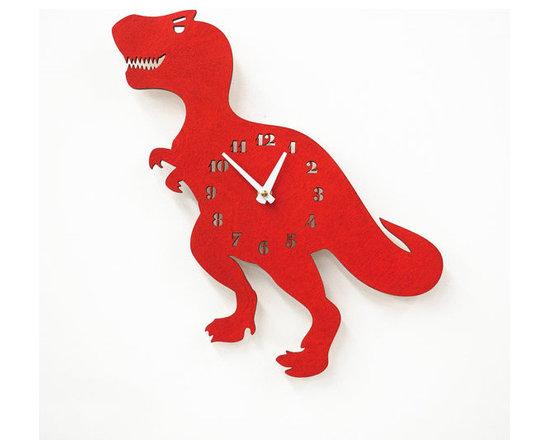 T Rawwwwrr Rex Children's Wall Clock -