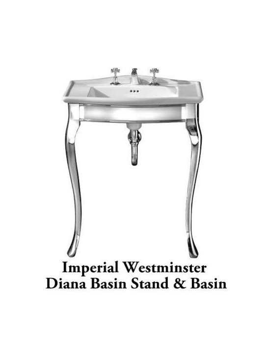 Imperial Westminster Diana Basin Stand & Basin - Beautiful polished aluminium support stand and hand crafted basin by Imperial Bathrooms. Made in England.