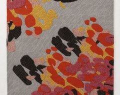 Up-Close Cranesbill Rug contemporary-rugs