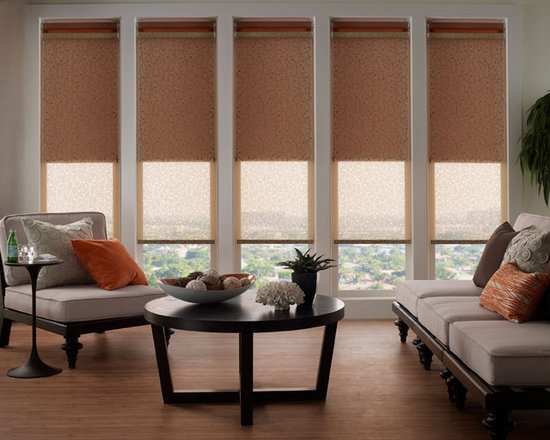 Lutron - Dual Roller shades by Lutron allow Blackout solutions while also allowing sheer shades for allowing light in the space when needed.