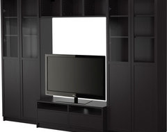 BILLY Bookcase combination with TV bench modern media storage
