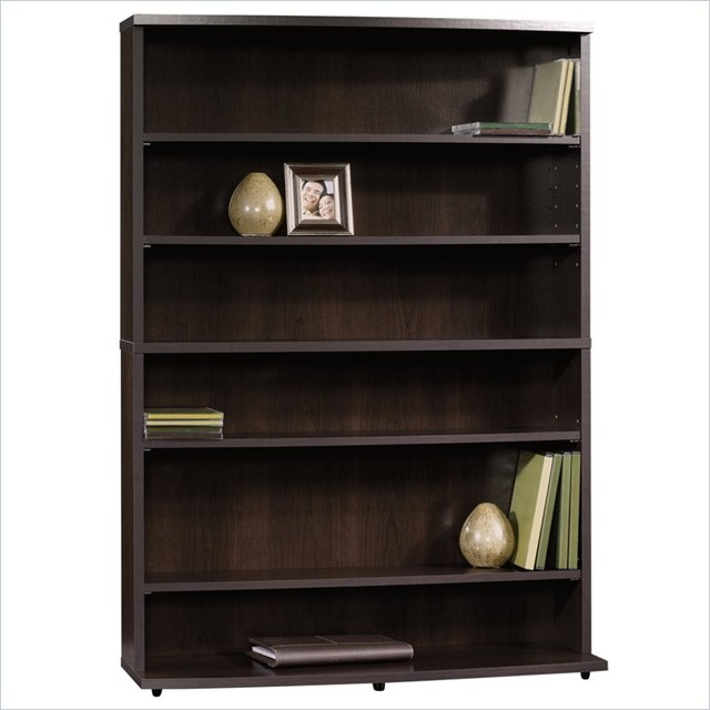 Sauder Beginnings Multimedia Storage Tower in Cinnamon Cherry Finish transitional-bookcases-cabinets-and-computer-armoires