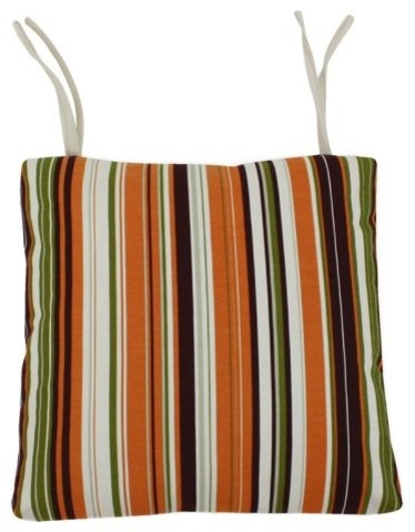 The Snuggle Stripe Reversible 16 x 16 Seat Cushion with Ties has a way of inviti traditional dining chair cushions