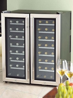 Wine Enthusiast - 2-Zone Wine Refrigerator modern refrigerators and freezers