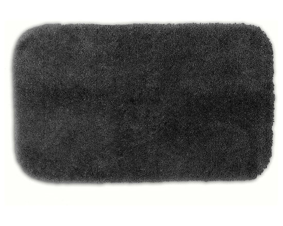 "Sands Rug - Posh Plush Charcoal Washable Bath Rug (2' x 3'4"") - Revel in spa-like luxury every time you step into your bath with the Posh Plush collection of bath rugs. The amazingly soft, yet durable, nylon plush is machine washable, and each floor piece has a non-skid latex backing for safety."