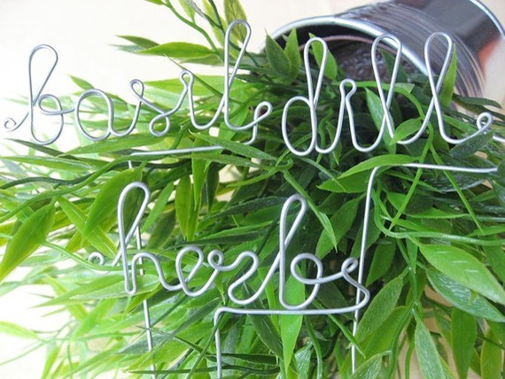 6 Herb Markers by AntoArts contemporary-gardening-tools