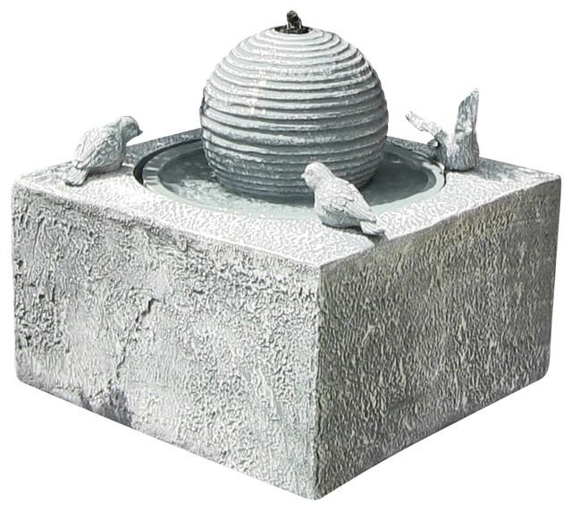 Birdbath Ball Solar On Demand Fountain contemporary-outdoor-fountains-and-ponds